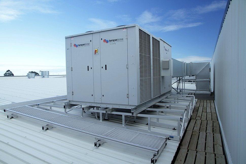 Hvac Plant Platforms Reduce Platform Weight By 75